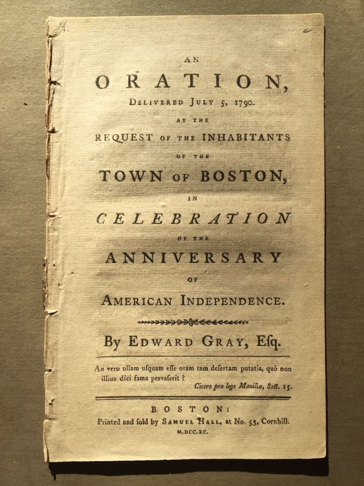 An oration, delivered July 5, 1790 At the request of...