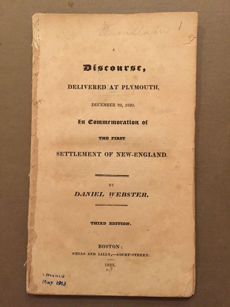 A discourse, delivered at Plymouth, December 22, 1820. In commemoration...