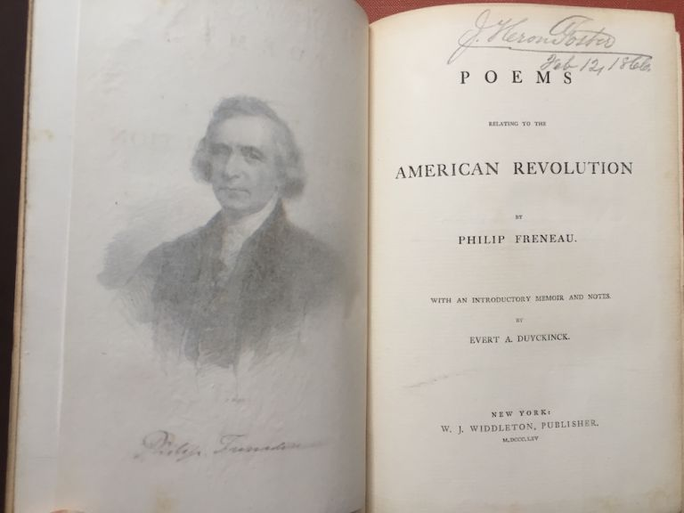 Poems Relating to the American Revolution (1865). Philip Freneau, introductory, Evert A. Duyckinck.