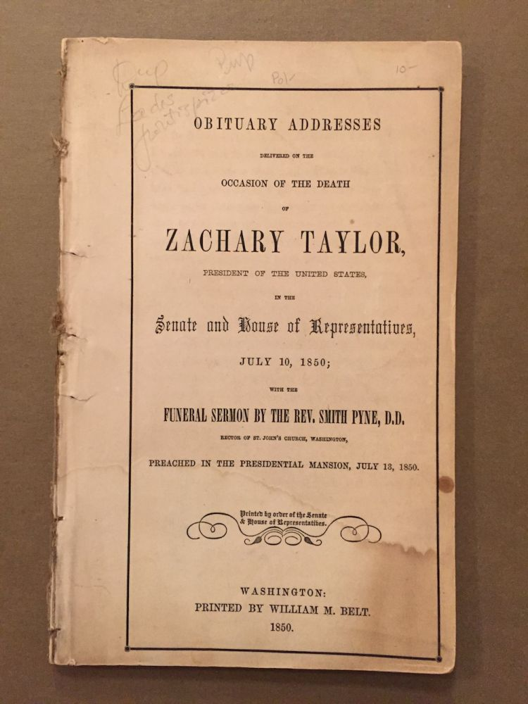 Obituary addresses delivered on the occasion of the death of...