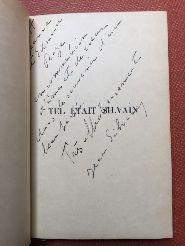 Tel Etait Silvain (inscribed by Jean Silvain to his sister, Jeanne and her husband) - 1934. Jean Silvain.