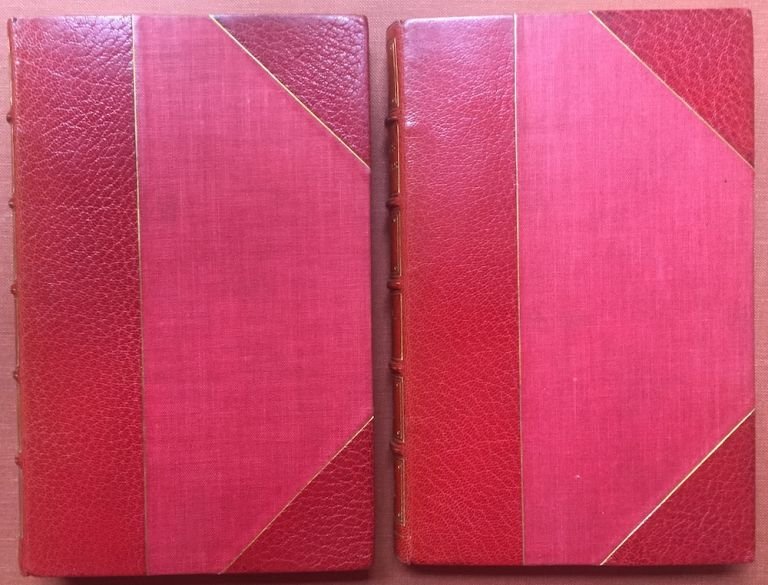 Hudibras, a Poem (2 volumes, 1819, finely bound, colored aquatint plates) - With notes selected from Grey and other authors, to which are prefixed a Life of the Author, and a Preliminary Discourse on the Civil War &c. A New Edition Embellished with Engravings. Samuel Butler.