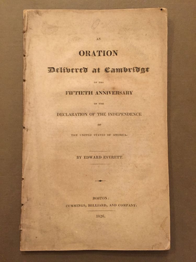 An Oration Delivered at Cambridge on the Fiftieth Anniversary of...