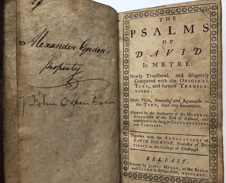 The Psalms Of David In Metre Newly Translated And Diligently