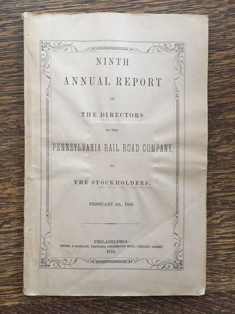 Ninth Annual Report of the Directors of the Pennsylvania Rail...