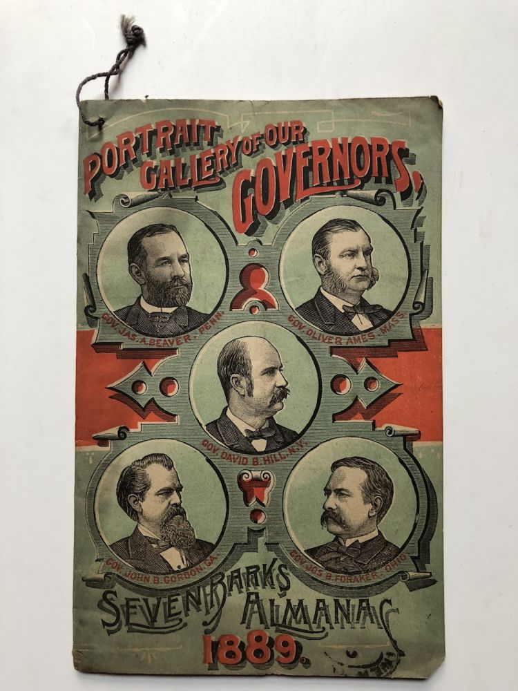 Seven Barks Almanac 1889, Portrait Gallery of our Governors