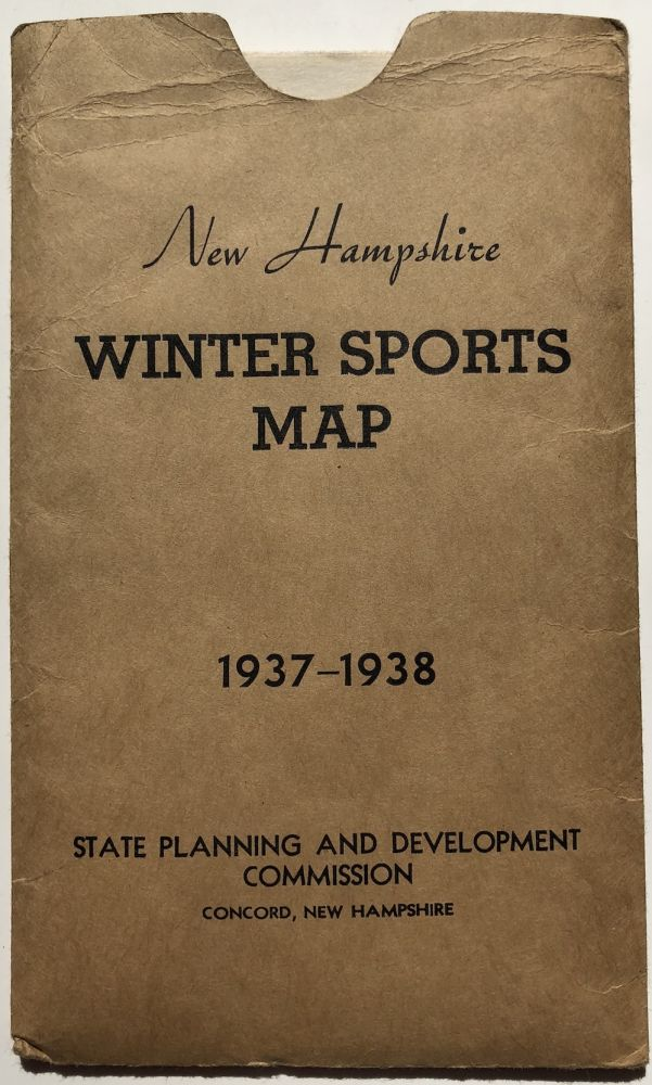 New Hampshire Winter Sports Map 1937-1938