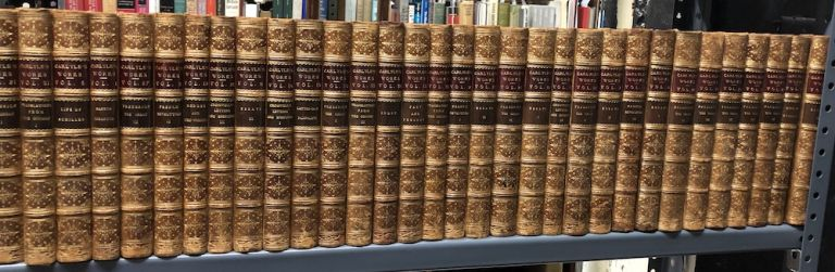 Collected Works of Thomas Carlyle, 34 volumes, flame calf, 1887-1893. Thomas Carlyle.