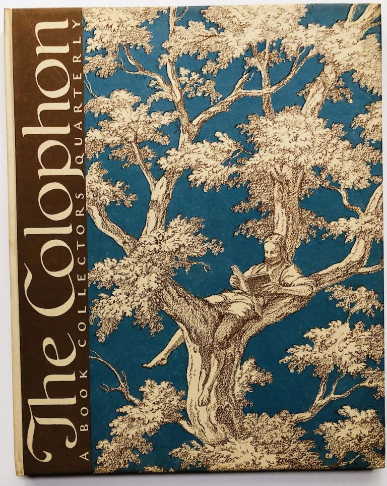 The Colophon, Part 11, September 1932. Harry B. Smith J. M. Bowles, William A. Kittrege, Percy H. Muir, Edith Wharton, on Ethan Frome.