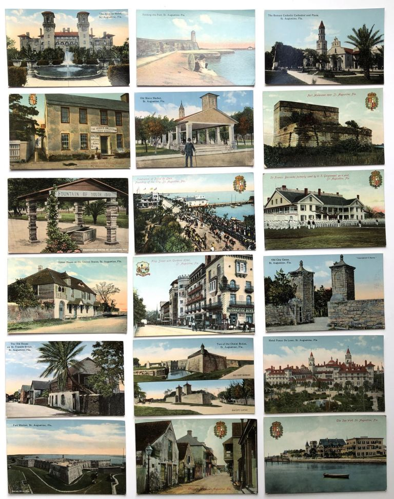 18 early 1900s postcards of St. Augustine Florida in fine condition. Southern Americana.