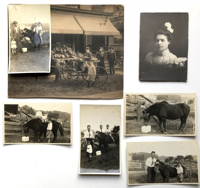 Photos of Coleman family members on a farm near Pittsburgh. Mary Moreland Coleman, James H. Coleman, children, etc. Pittsburgh.