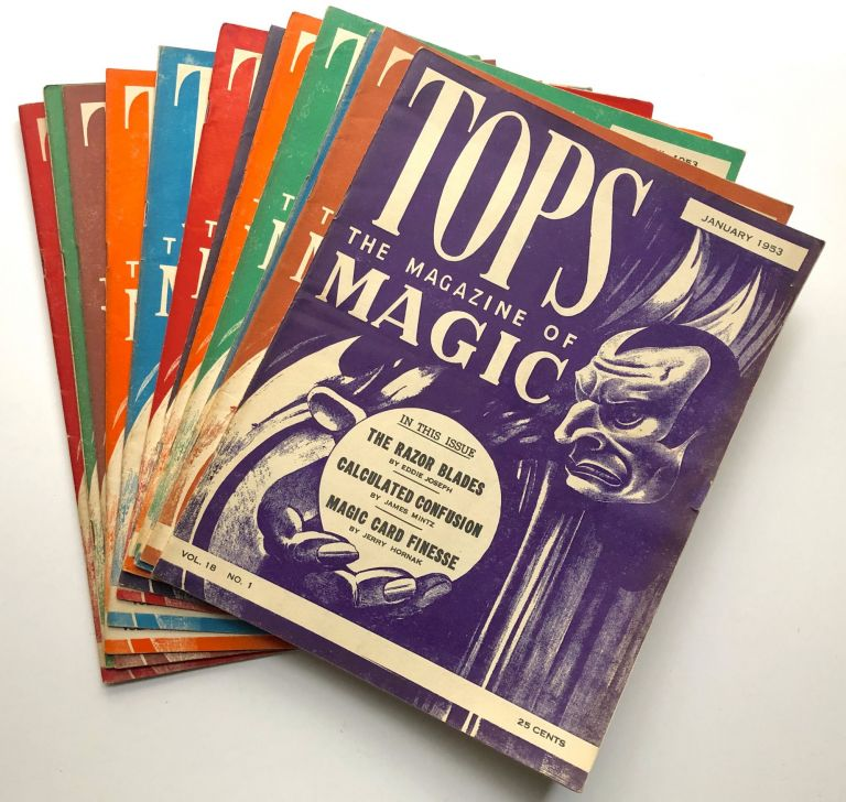 Tops, the Magazine of Magic, Vol. 18 nos. 1-12 complete, January-December 1953. Percy Abbott, ed.