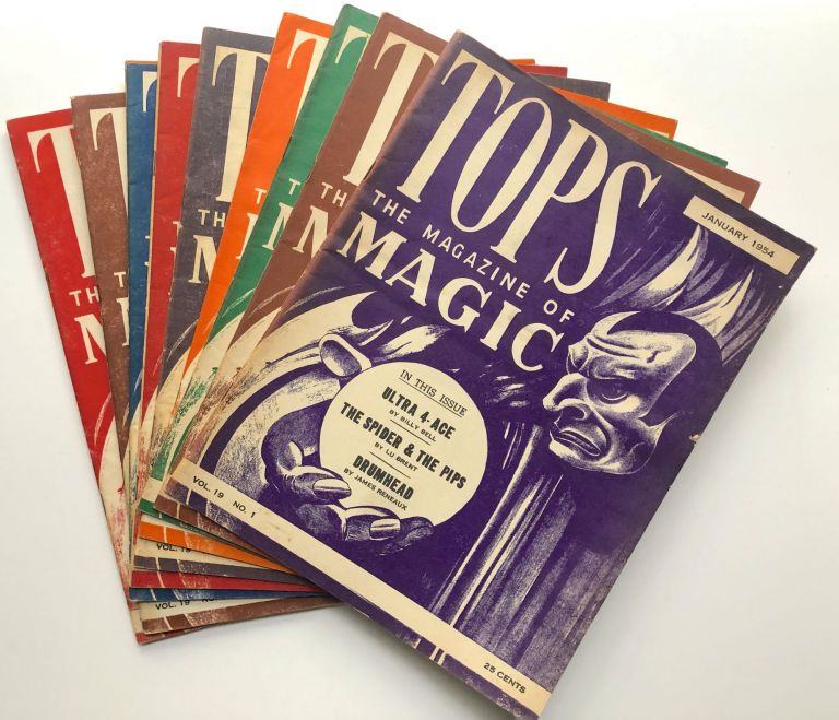 Tops, the Magazine of Magic, Vol. 19 nos. 1-12, January-December 1954 missing Feb. Percy Abbott, ed.