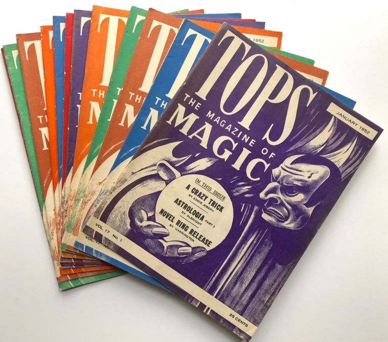 Tops, the Magazine of Magic, Vol. 17 nos. 1-12 complete, January-December 1952. Percy Abbott, ed.