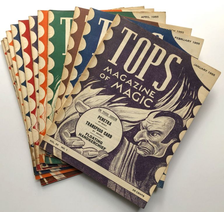 Tops, the Magazine of Magic, Vol. 20 nos. 1-12 complete, January-December 1955, lacking November. Percy Abbott, ed.