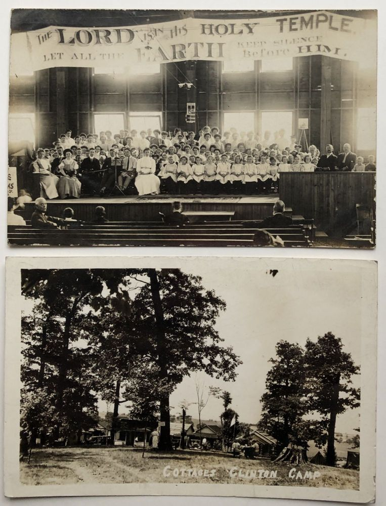 2 real photo postcards of Clinton PA ca. 1910 and 1941. PA Allegheny County.