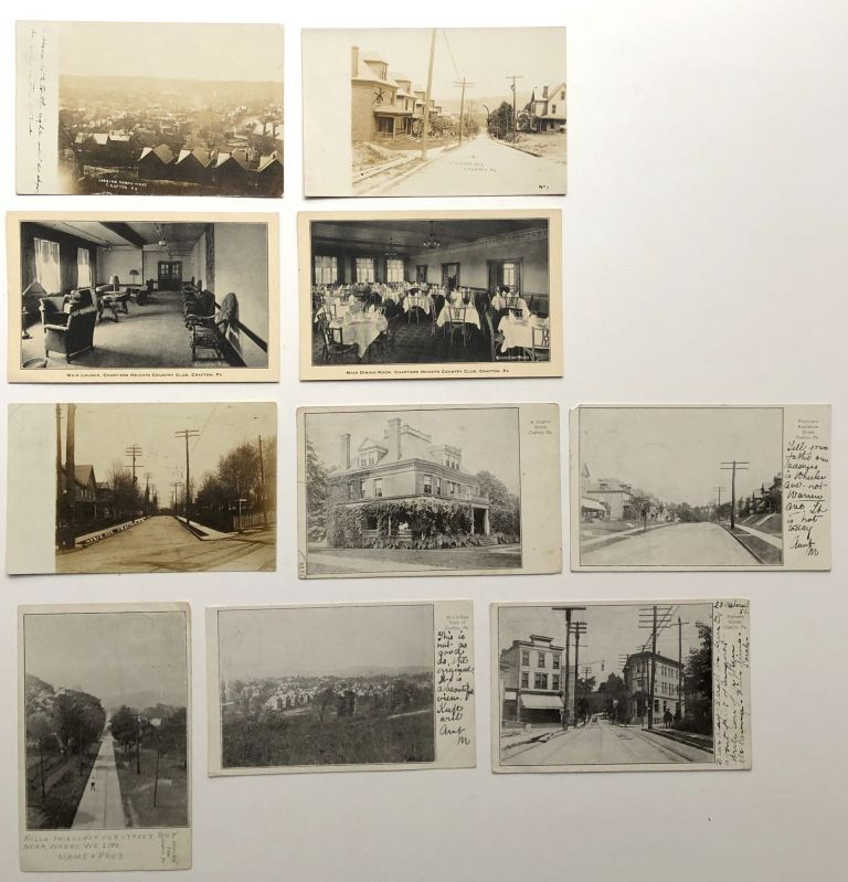 10 postcards of Crafton Pennsylvania including RPPCs 1906-1910. PA Allegheny County.