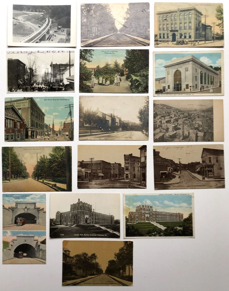 16 postcards mainly 1910s of West End and Sheridan, Pittsburgh. PA Allegheny County.