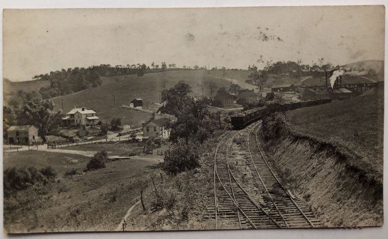 1916 RPPC of ore trains at Imperial PA. PA Allegheny County.