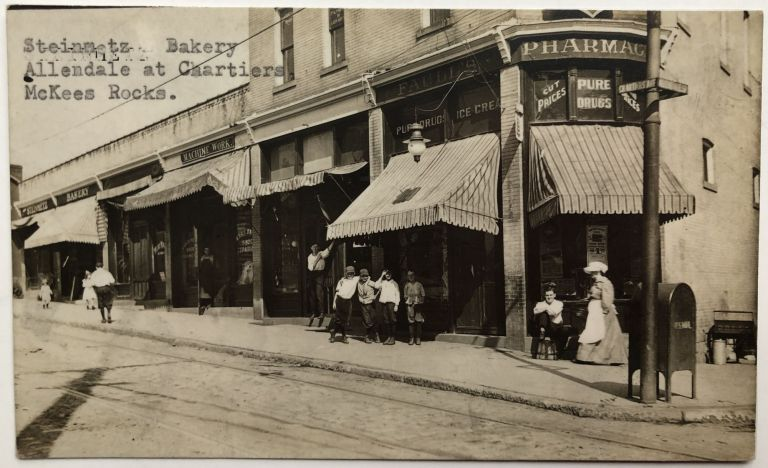 Ca. 1910 RPPC Real Photo Postcard, Stienmetz Bakery, McKees Rocks. PA Allegheny County.