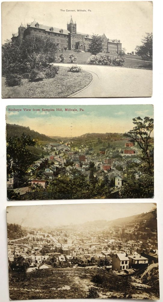 3 early postcards of Millvale, PA. PA Allegheny County.