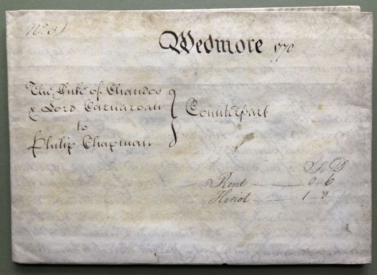 1770 large vellum deed, sale of Latcham, Wedmore (Somerset County) by Henry Duke of Chandos to Philip Chapman