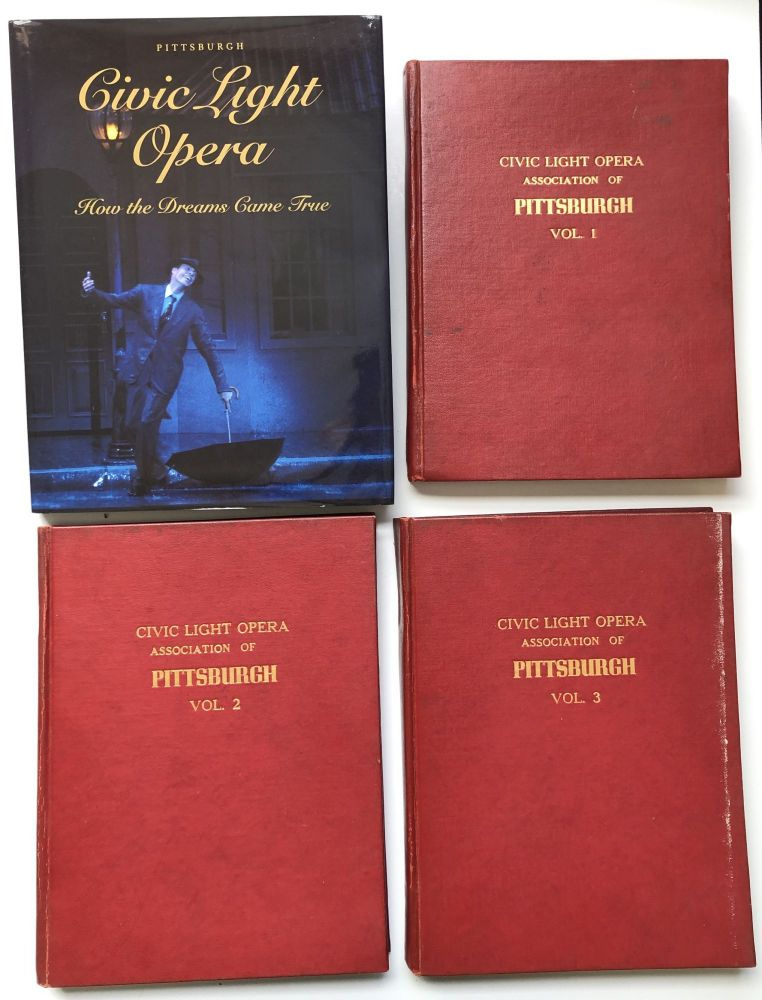 3 volumes of programs from Civic Light Opera of Pittsburgh 1947-1957, plus 1996 history of the CLO. Mary Brignano.