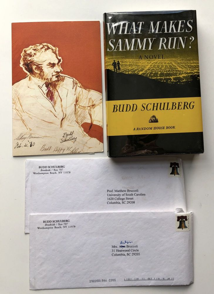 What Makes Sammy Run? - Inscribed to Matt Bruccoli with letters. Budd Schulberg.