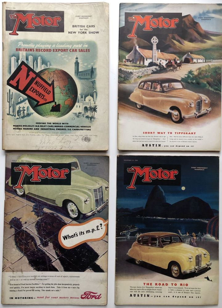 The Motor (English Auto Magazine) 6 issues 1949-1950