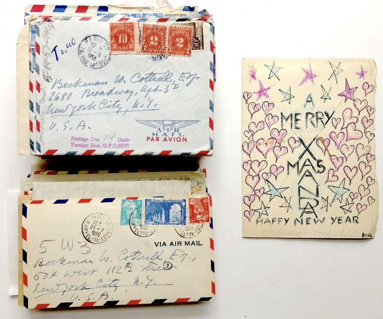 73 letters and cards, 1950-1963, to one of his closest friends: music, performance, gossip, politics, celebrities. Doda Conrad.