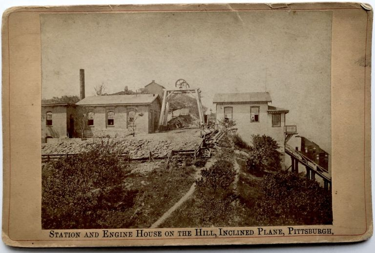 1880s cabinet photo of Incline and station house at the top of Mount Washington, Pittsburgh