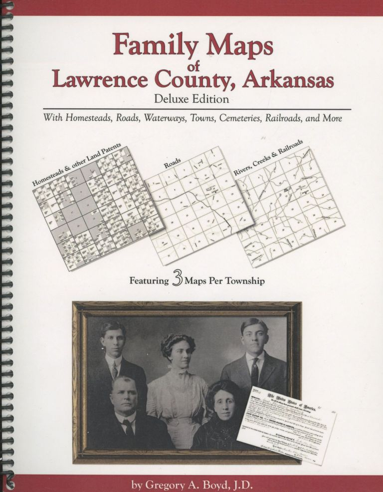 Texas Land Survey Maps for Red River County with Roads, Railways, Waterways, Towns and Cemeteries. Gregory Boyd.