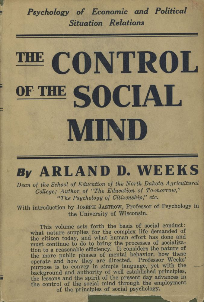 The Control of the Social Mind: Psychology of Economic and...