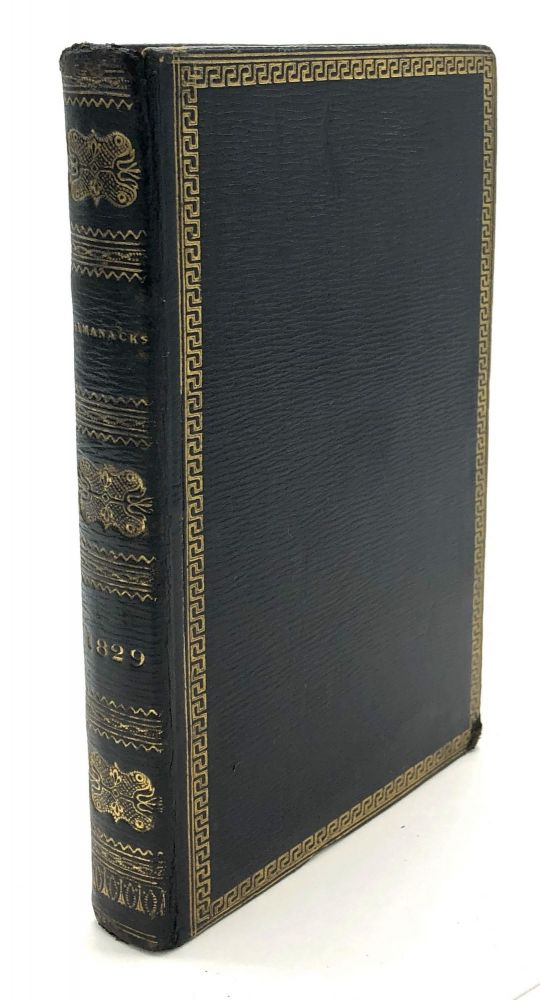 The Gentleman's Diary, or the Mathematical Repository; An Almanack for...1829 - with fore-edge painting of Robert Burns' birthplace at Alloway. Fore-Edge Painting.