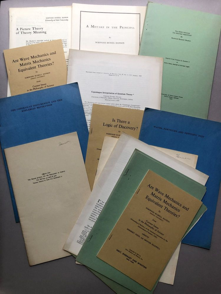 Group of 11 offprints on philosophy and philosophy of science from the collection of Wilfrid Sellars. Norwood Russell Hanson.