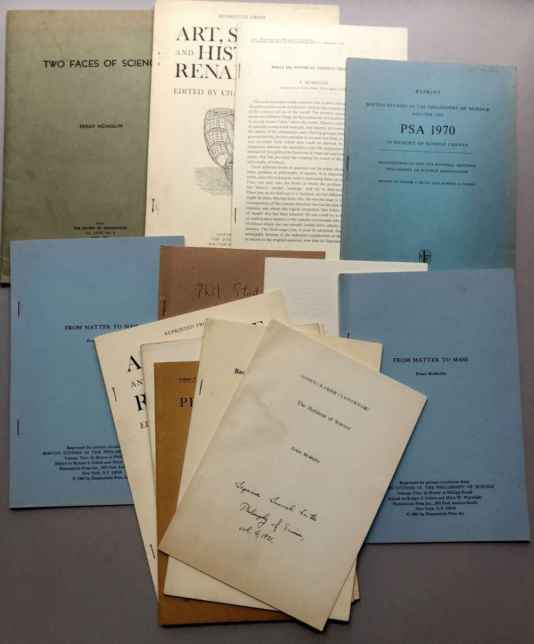 Group of 14 offprints of articles on philosophy, science and related fields, from the collection of Wilfrid Sellars. Ernan McMullin.