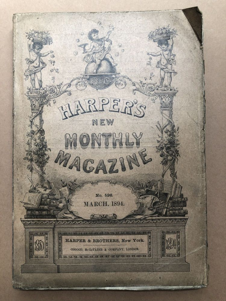 Harper's New Monthly Magazine, March 1894. George du Maurier Frederic Remington.