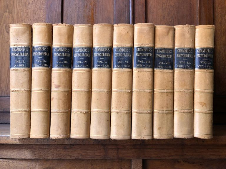 Chambers's Encyclopaedia: A Dictionary of Universal Knowledge for the People, 10 volumes complete. Chambers.