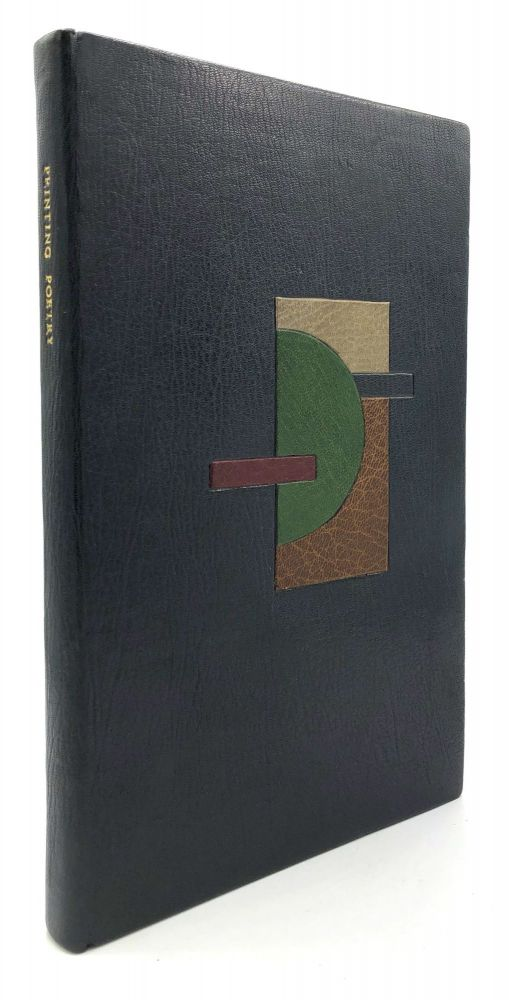Printing Poetry, a Workbook in Typographic Reification - in beautiful full leather designer binding. Clifford Burke.
