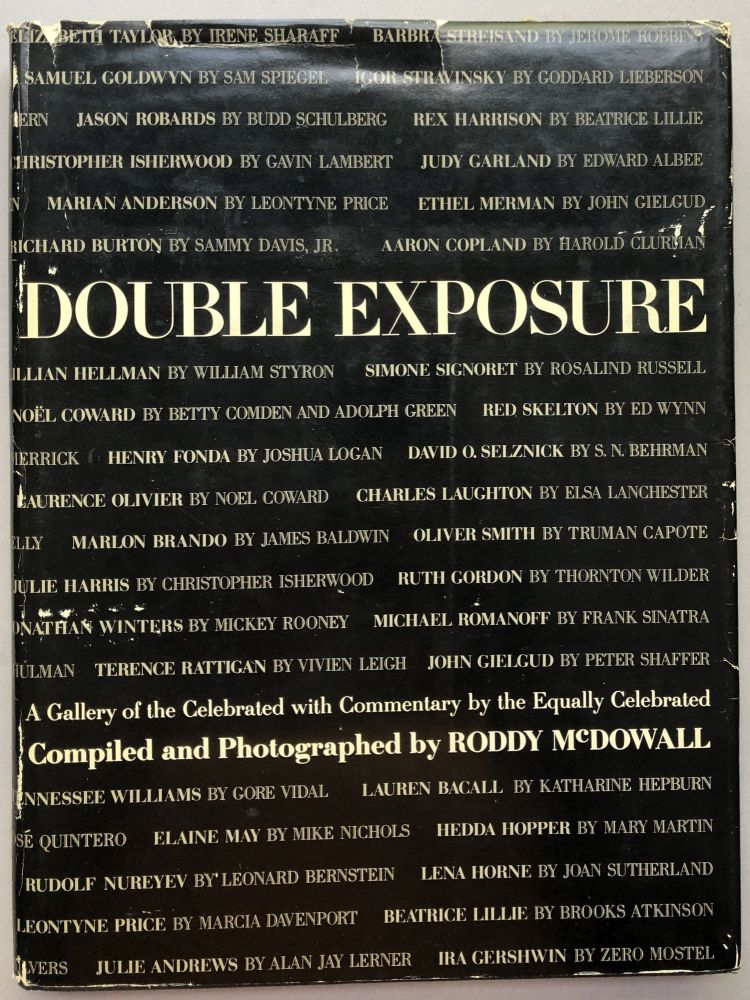 Double Exposure (1966, with note to contributor William Goldman) plus Double Exposure Take 2, 3 and 4 from Goldman's library. Roddy McDowall.