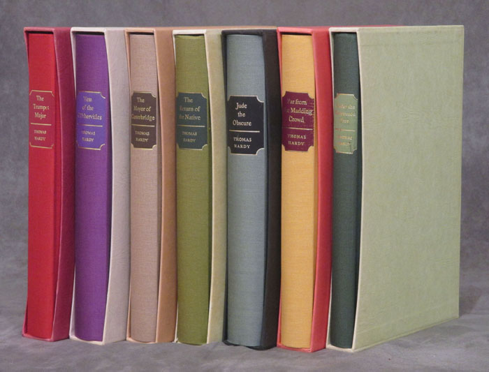 The Novels and Stories of Thomas Hardy, Folio Society, 8 vols.--Under the Greenwood Tree, Far from the Madding Crowd, The Return of the Native, The Mayor of Casterbridge, Tess of the d'Urbervilles, Jude the Obscure, The Trumpet-Major, & Wessex Tales: Strange, Lively, and Commonplace. Thomas Hardy, Samuel Hynes, Angela Thirlwell, James Gibson, Gilbert Phelps, Trevor Johnson, Et. Al.