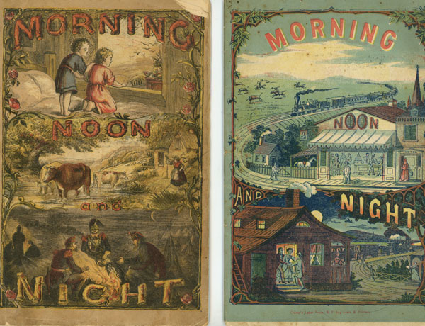 """2 consecutive medical annuals from the 1870s--Morning, Noon, and Night for 1871-1872 and Morning, Noon, and Night for 1872-1873; """"Third Year"""" and """"Fourth Year""""; Gratuitous Medical Annual; A Medical an Miscellaneous Annual. P. H. Drake, Co."""