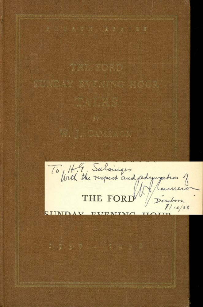 The Ford Sunday Evening Hour Talks, 1937-1938
