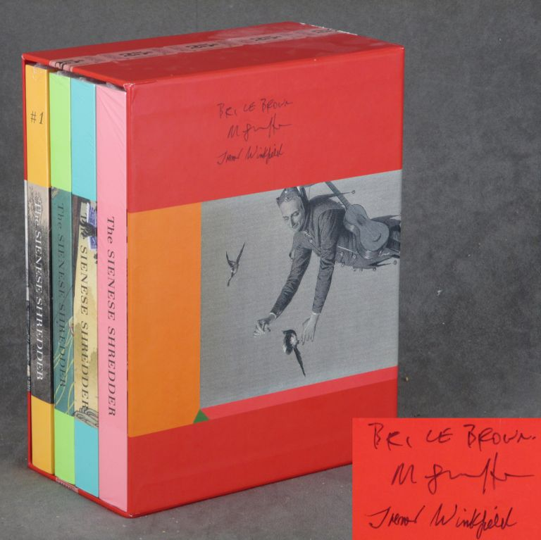 Limited Edition Set of The Sienese Shredder, Including Issues 1-4, SIGNED by Editors Brice Brown, Trevor Winkfield, and Mark Shortliffe. Brice Brown, Mark Shortliffe Trevor Winkfield, Lawrence Weschler, Kurt Schwitters.