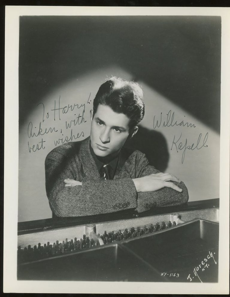 Inscribed Photograph of William Kapell. William Kapell.