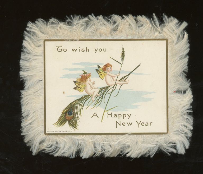 To Wish You A Happy New Year Greeting Card. Marcus Ward, Co.