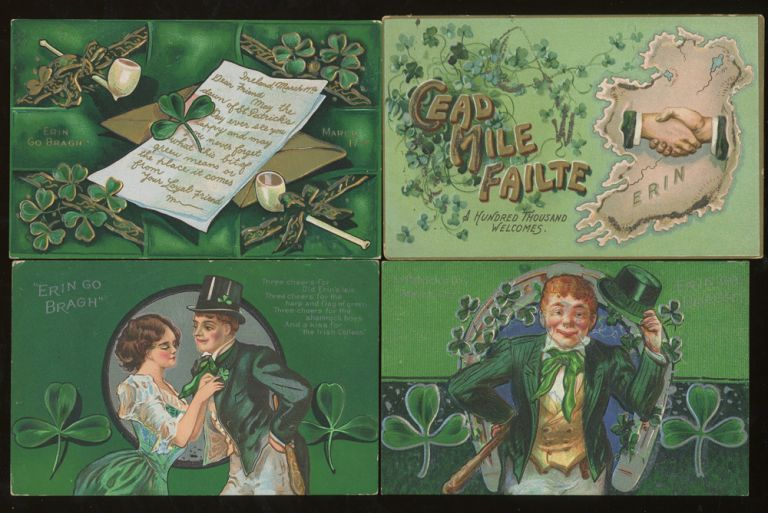 Group of 15 Ireland and Irish Themed Postcards. Raphael Tuck, Lawrence Sons, Valentine and Sons, J. Tallon.