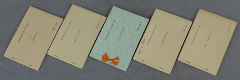 Series of 5 Photographic Views of Japan Booklets, Including: Festivals, Kabuki, Children, Village Scenes, and Tea Ceremony. Francis Haar.
