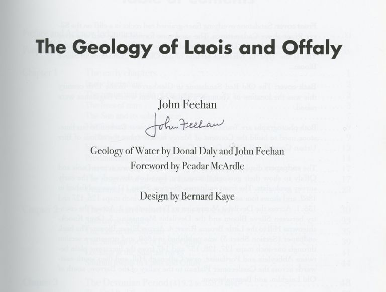 The Geology of Laois and Offaly, Signed by John Feehan. John Feehan.