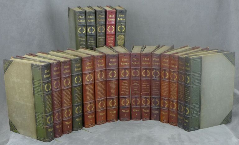 The Complete Writings of Elbert Hubbard, Author's Edition, Signed by Elbert Hubbard, With Two Manuscript Pages, Complete in Twenty Volumes. Elbert Hubbard.